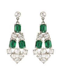 Ben-Amun | Green Emerald and Crystal Chandelier Earrings | Lyst