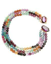 Bounkit | Metallic Layered Precious Stone Necklace | Lyst