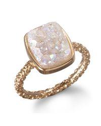 Dara Ettinger | Pink Nadia Stackable Druzy Ring  | Lyst