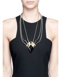 Eddie Borgo   Metallic Horus Gemstone Necklace   Lyst