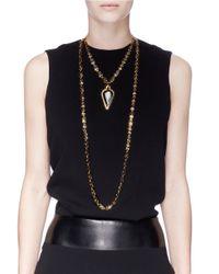 Eddie Borgo   Metallic Gold Plated Peaked Chain Necklace   Lyst