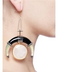 Eddie Borgo - Metallic Moon Drop Earrings - Lyst