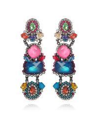 Erickson Beamon | Multicolor Modern Mogul Neon Statement Earrings | Lyst