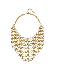 Gerard Yosca   Metallic Gold Bib Necklace   Lyst