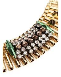 Iosselliani | Metallic Rhinestone Detailed Necklace | Lyst