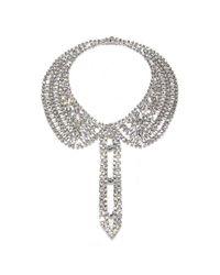 Isaac Mizrahi New York   Gray Crystal Chain Collar Necklacebracelet   Lyst