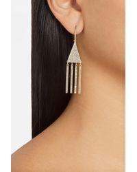 Jennifer Meyer - Metallic 18karat Gold Diamond Triangle Earrings - Lyst
