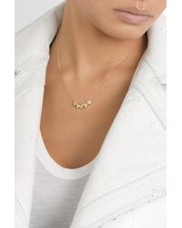 Jennifer Meyer | Metallic 18karat Gold Diamond Triangle Necklace | Lyst