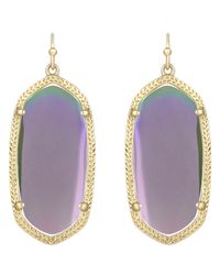 Kendra Scott | Purple Elle Earrings Gold Iridescent Agate | Lyst
