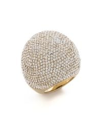 Michael Kors - White Pave Bubble Ring - Lyst