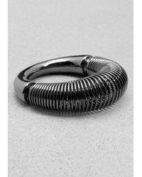 & Other Stories   Metallic Spiral Ring   Lyst