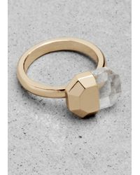 & Other Stories | Metallic Angular Ring | Lyst