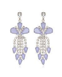 Tom Binns | Pink Lilac Crystal Chandelier Earrings | Lyst