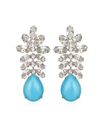 Tom Binns | Blue Turquoise Crystal Statement Earrings | Lyst