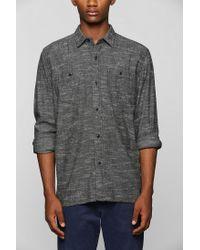 Urban Outfitters | Gray Stapleford Jed Slub Buttondown Flannel Shirt for Men | Lyst