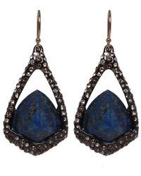 Alexis Bittar - Blue Ruthenium Suspended Lapis Lazuli Earrings - Lyst