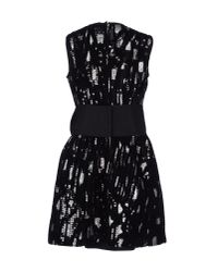 Dolce & Gabbana - Black Lace And Carnation-Print Brocade Dress - Lyst