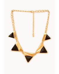 Forever 21 | Black Modernist Geo Pendant Necklace | Lyst