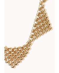 Forever 21 | Metallic Fancy Popcorn Bib Necklace | Lyst