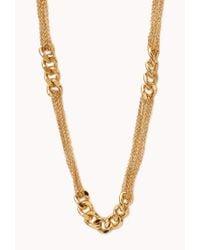 Forever 21   Metallic Beaded Fringe Necklace   Lyst