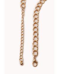 Forever 21 | Black Modernist Geo Pendant Necklace | Lyst