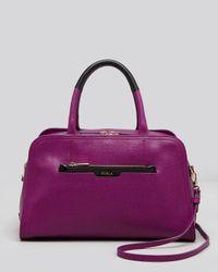 Furla | Purple Satchel Diamante | Lyst