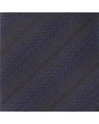 HUGO - Blue Herringbone Ombre Striped Silk Tie 6cm for Men - Lyst