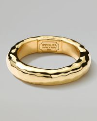 Ippolita - Metallic 18k Gold Shiny Thick Hammered Ring for Men - Lyst