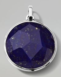 Ippolita | Blue Mens Sterling Silver Round Pendant in Lapis for Men | Lyst