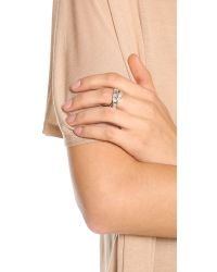 Michael Kors - Metallic Pave Intertwined Baguette Ring - Lyst