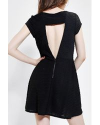Urban Outfitters - Black Silence Noise Digital Jacquard Fit Flare Dress - Lyst