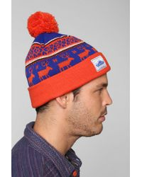 Lyst - Urban Outfitters Penfield Kember Pom Beanie in Red for Men a17a79e048a