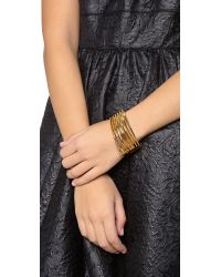 Vita Fede - Metallic Futturo Cutout Bracelet - Lyst