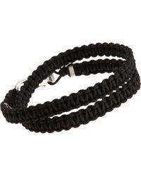 Catherine Zadeh - Metallic Double Wrap Macrame Cord Bracelet for Men - Lyst
