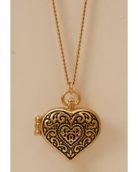 Forever 21 - Metallic Filigree Heart Locket - Lyst