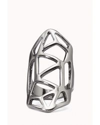 Forever 21 - Metallic Cutout Geo Knuckle Ring - Lyst