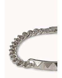 Forever 21 | Metallic Pyramid Studded Id Bracelet | Lyst