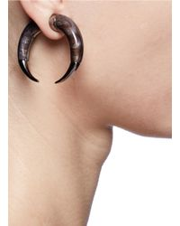 Givenchy | Black Double Shark Magnetic Single Earring | Lyst
