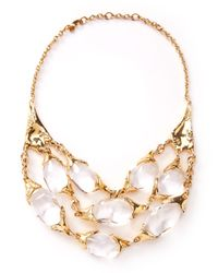 Alexis Bittar - Metallic Large 3strand Texture Necklace - Lyst