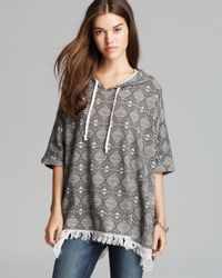 Alternative Apparel - Gray Poncho Lakeside Printed - Lyst