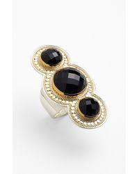 Anna Beck | Black Gili 3stone Ring | Lyst