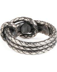 Bottega Veneta - Metallic Silver Knot Ring - Lyst