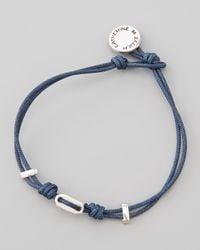 Catherine Zadeh | St Tropez Cord Bracelet Blue for Men | Lyst
