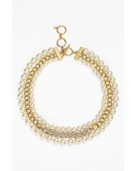 Givenchy | Metallic Crystallized Y Necklace With Dangling Pear Crystal | Lyst