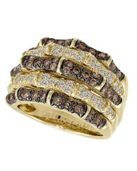 Le Vian | Metallic Chocolate And Vanilla Diamond 14k Yellow Gold Ring, 1.27 Tcw | Lyst