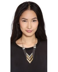 Rose Pierre - Metallic La Maison Goyard Chain Necklace - Lyst