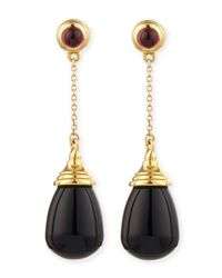 Syna | Mogul 18k Black Onyx Chain Drop Earrings | Lyst