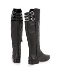 BCBGMAXAZRIA - Black Central Leather Knee Boots - Lyst