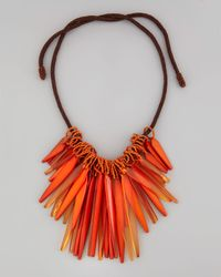 Donna Karan | Orange Small Cluster Necklace  | Lyst