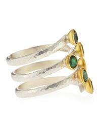 Gurhan - Metallic Spring Six Green Topaz Wrap Around Ring Size 65 - Lyst
